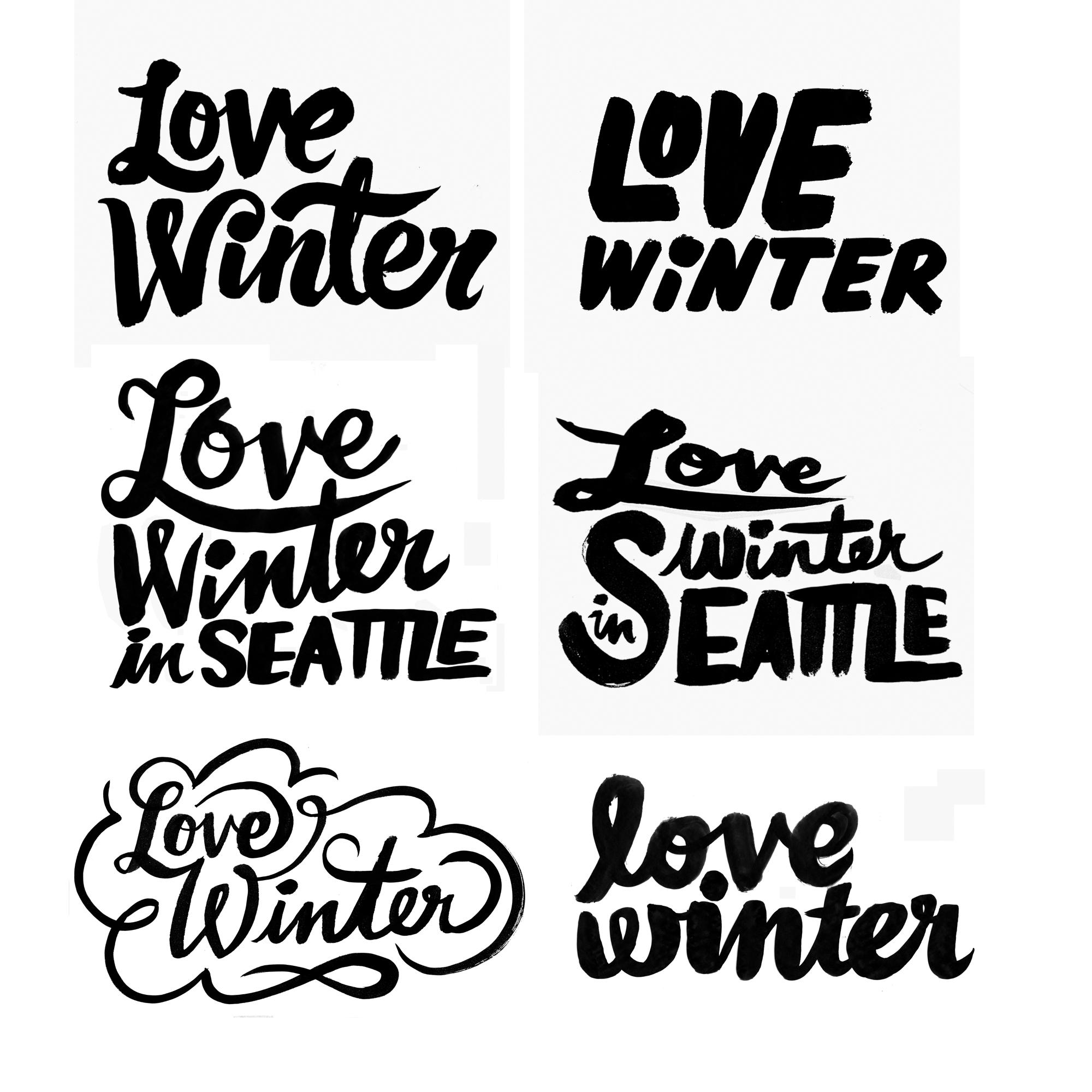 Erik Marinovich - Seattle Met magazine lettering exploratory