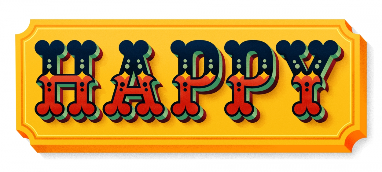 Erik Marinovich - Friends of Type - Happy