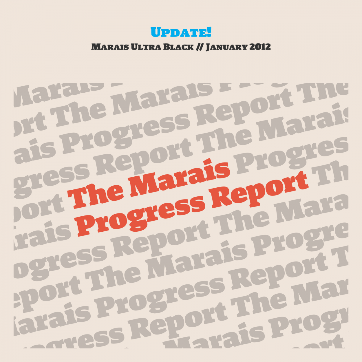 Marais Progress Report Cover