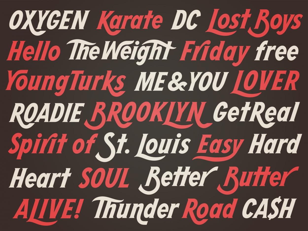 Dan Cassaro - HIGHWAY typeface