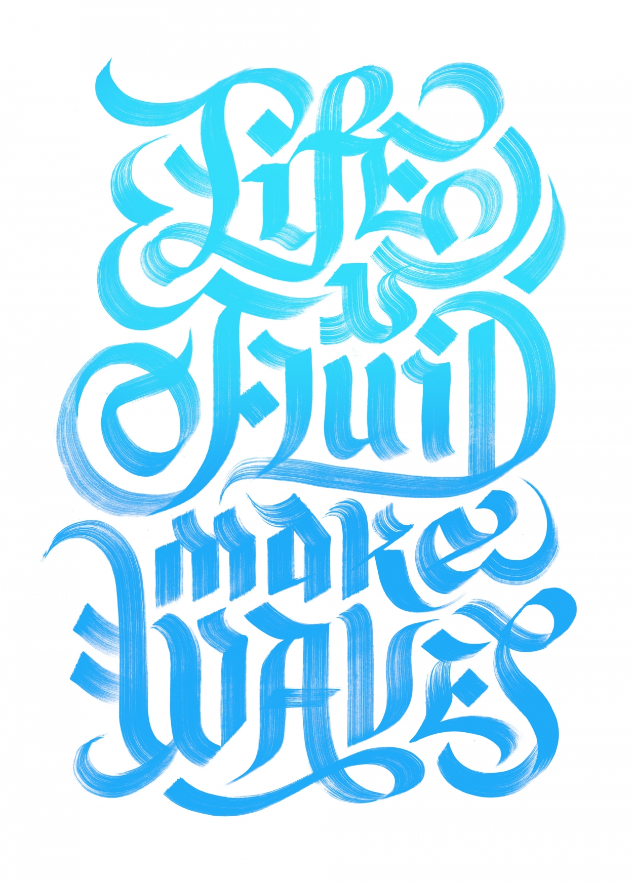 Erik Marinovich - Friends of Type - The Fox is Black - Life is Fluid Make Waves